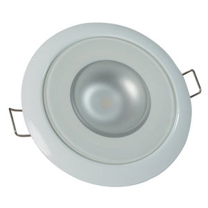 Lumitec Mirage Flush Mount Down Light Glass Finish Bezel White Non Dimming