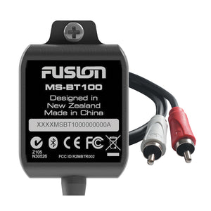 Fusion Electronics MS BT100 Receiver Bluetooth Compatible Auxiliary Input RCA
