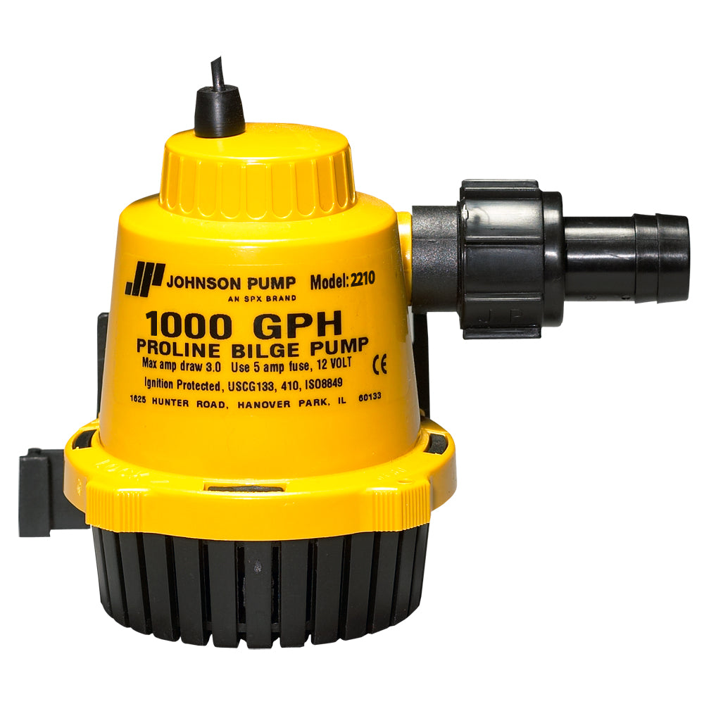 Johnson Pump Durable Plastic Proline Bilge Pump 1000 GPH w/ Dura Ports