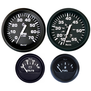 Faria Euro Black Boxed Set Outboard Motors Speedometer