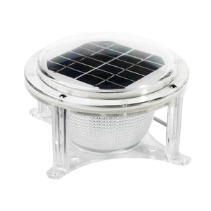 Dock Edge Piling Solar Dome Light Powerful Polar Charging Performance