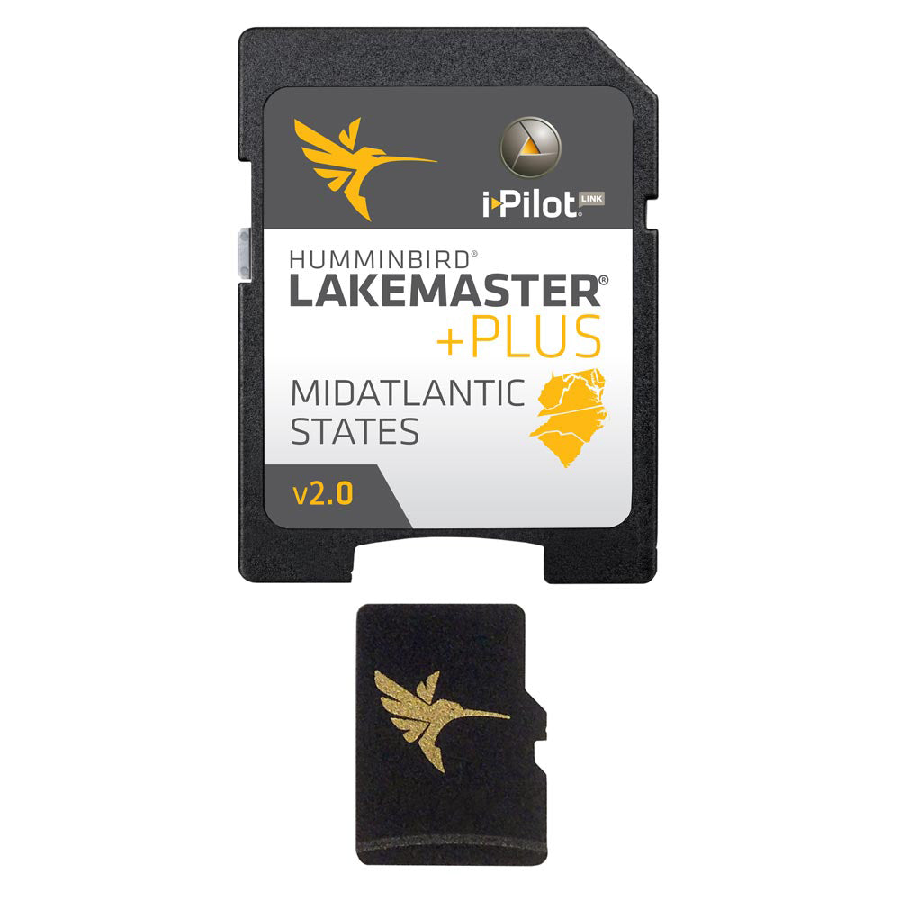 Quality Humminbird Micro Map Card LakeMaster Plus Mid Atlantic W/ SD Adapter