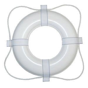 "Taylor Made Foam Ring Buoy 30"" White Rope Minimum Foam Buoyancy 16.5lbs"