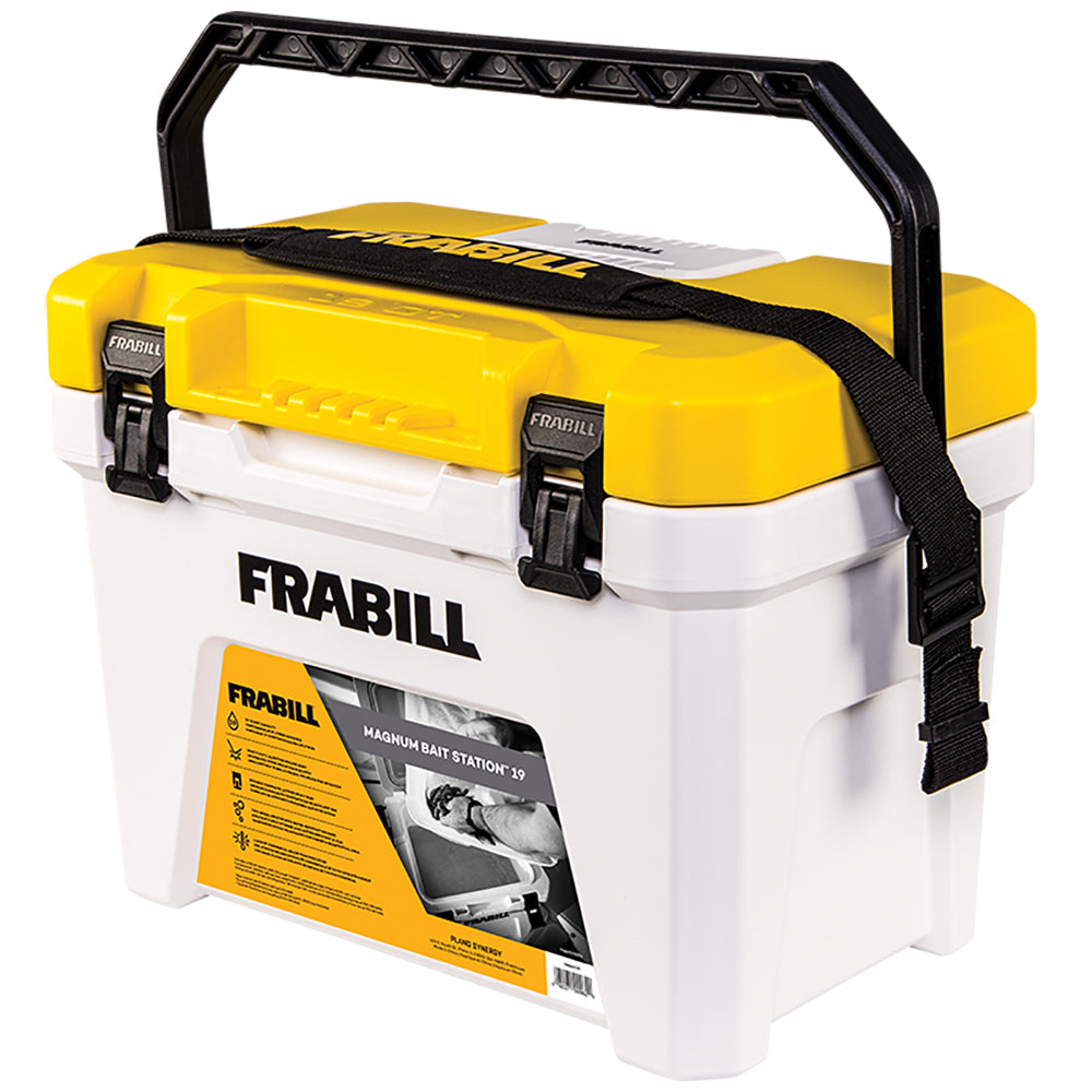 Frabill Magnum Bait Station 19 Quart Heavy Duty Injection Molded Body
