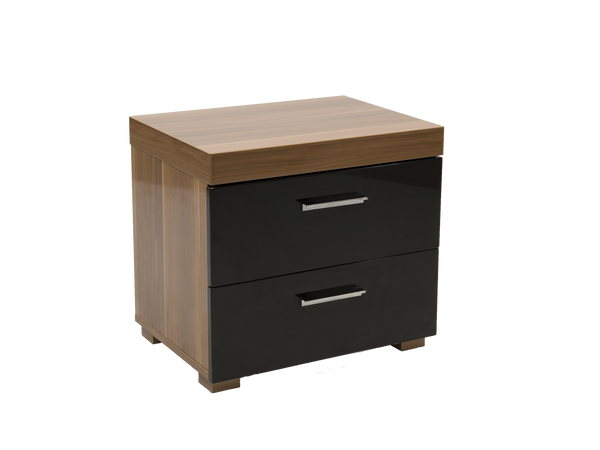 Alto 2 drawers nightstand meubles newell furniture for Meubles newell montreal