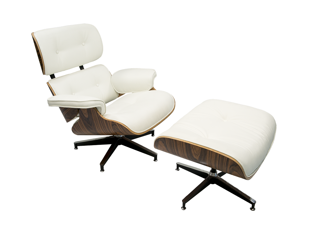 Newell furniture eames style lounge chair pu leather for Meubles newell montreal