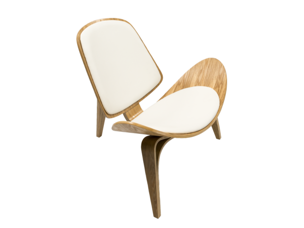 Newell furniture l shell wooden chair white wood for Meubles newell montreal