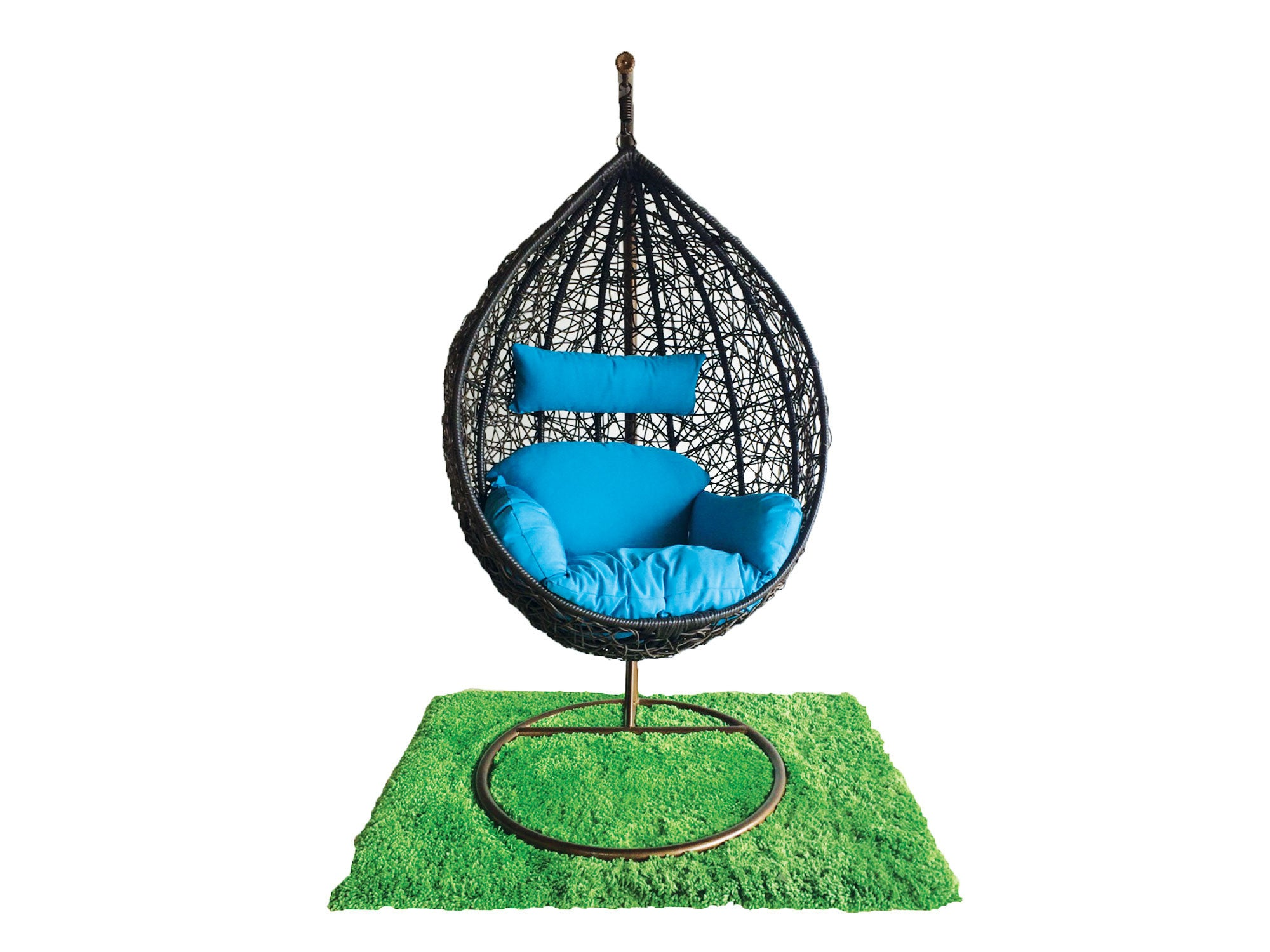 Cocoon chair outdoor - Turquoise Outdoor Hanging Cocoon Chair At Newell Furniture