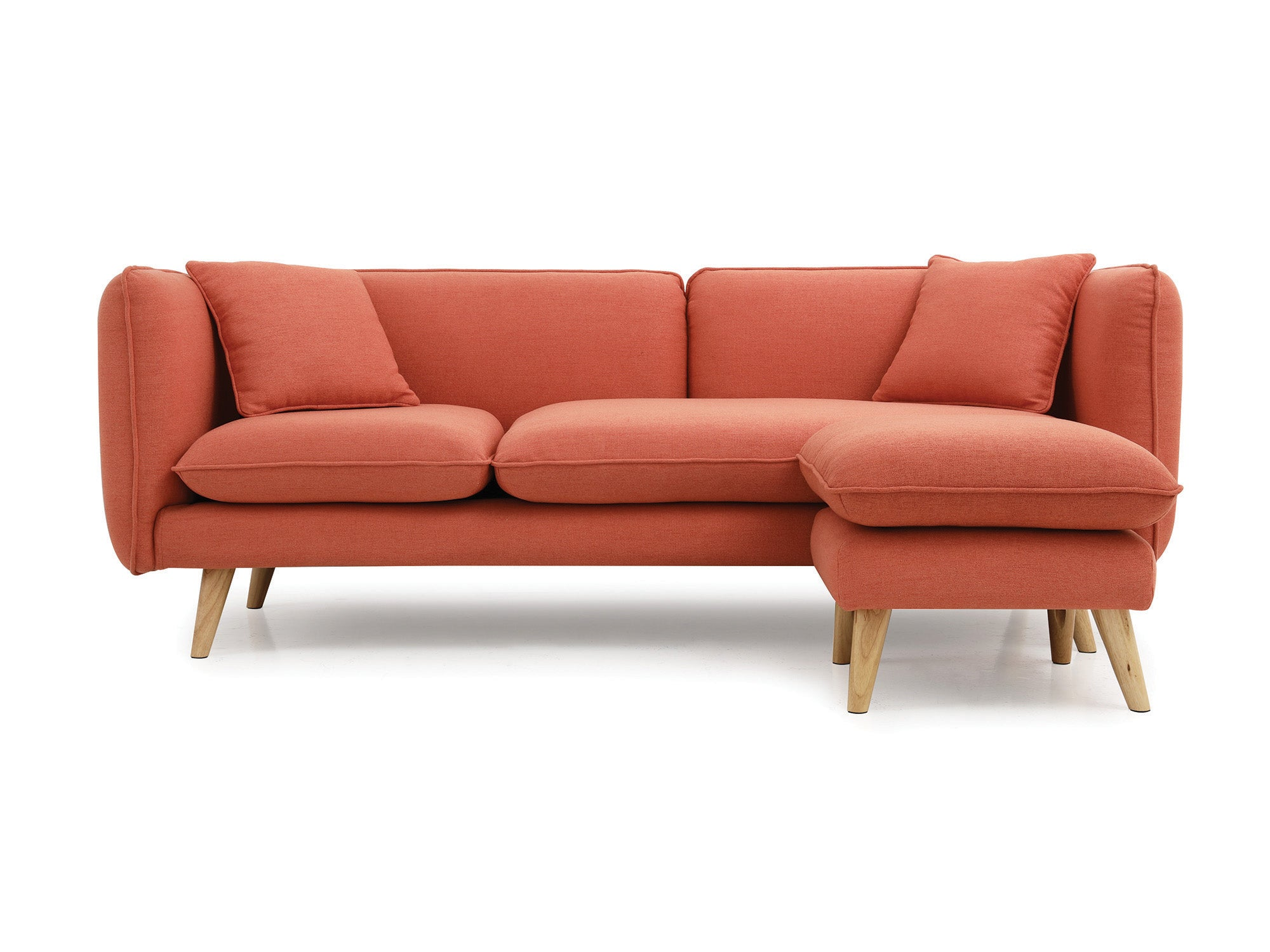 Newell furniture alesia 3 seater orange meubles for Meuble brossard