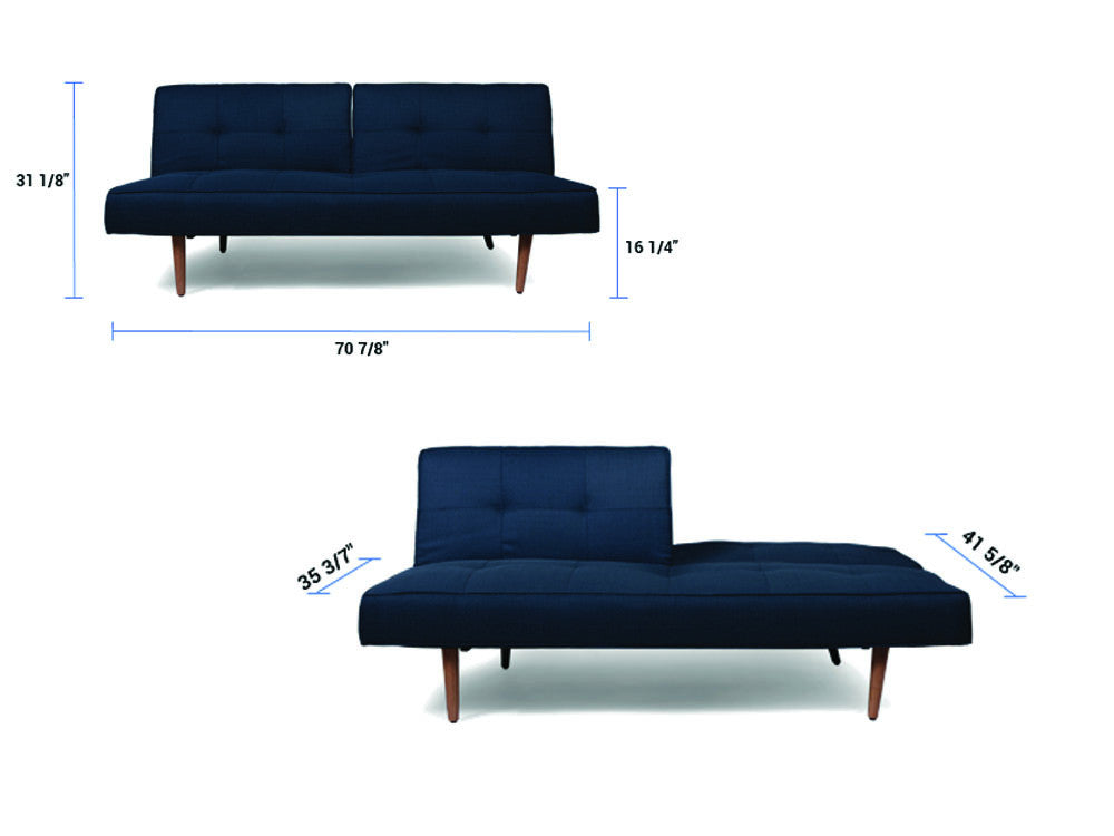 Billy sofabed blue meubles newell furniture for Meubles newell montreal
