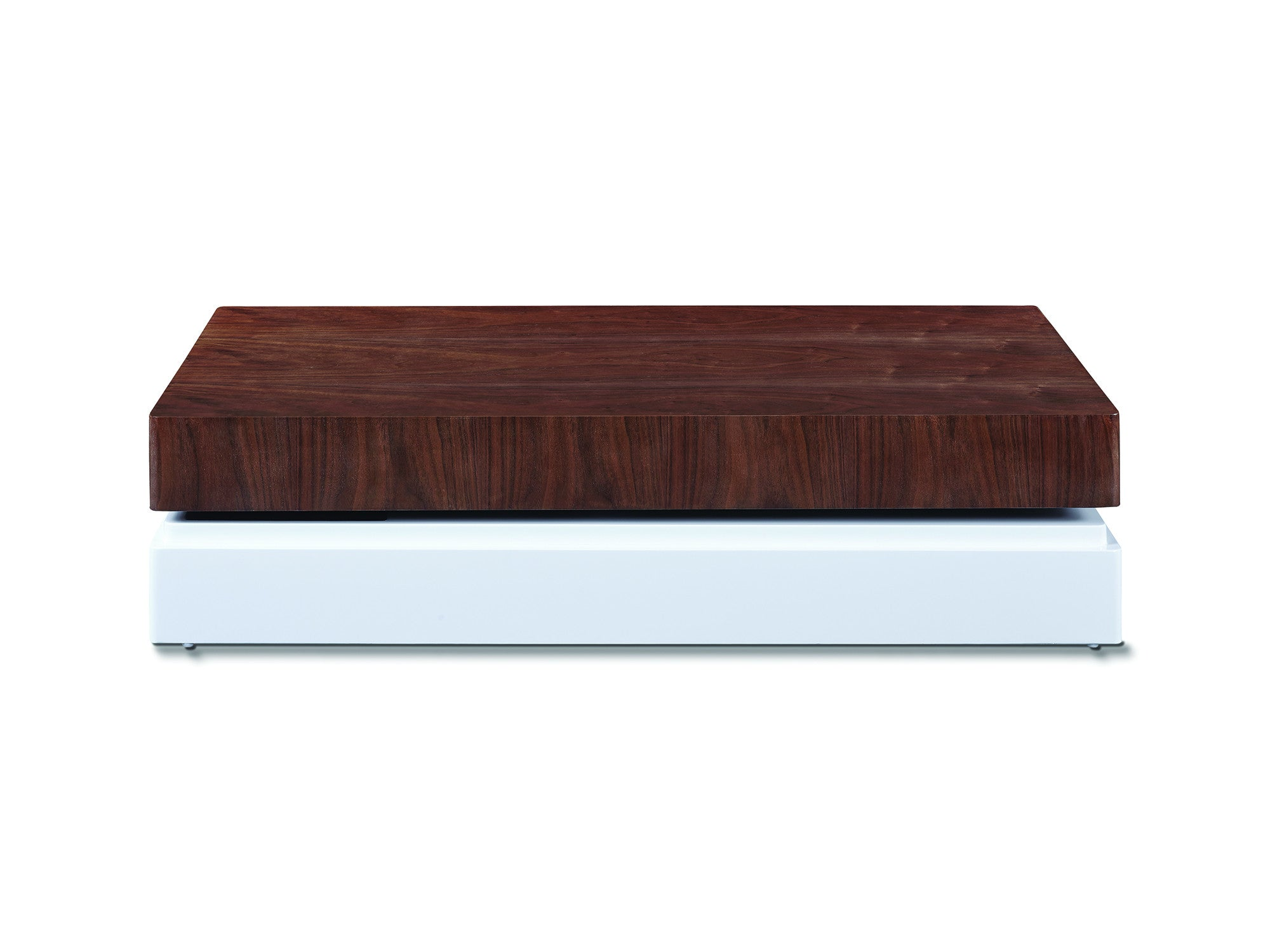 Box coffee table walnut meubles newell furniture for Meuble brossard