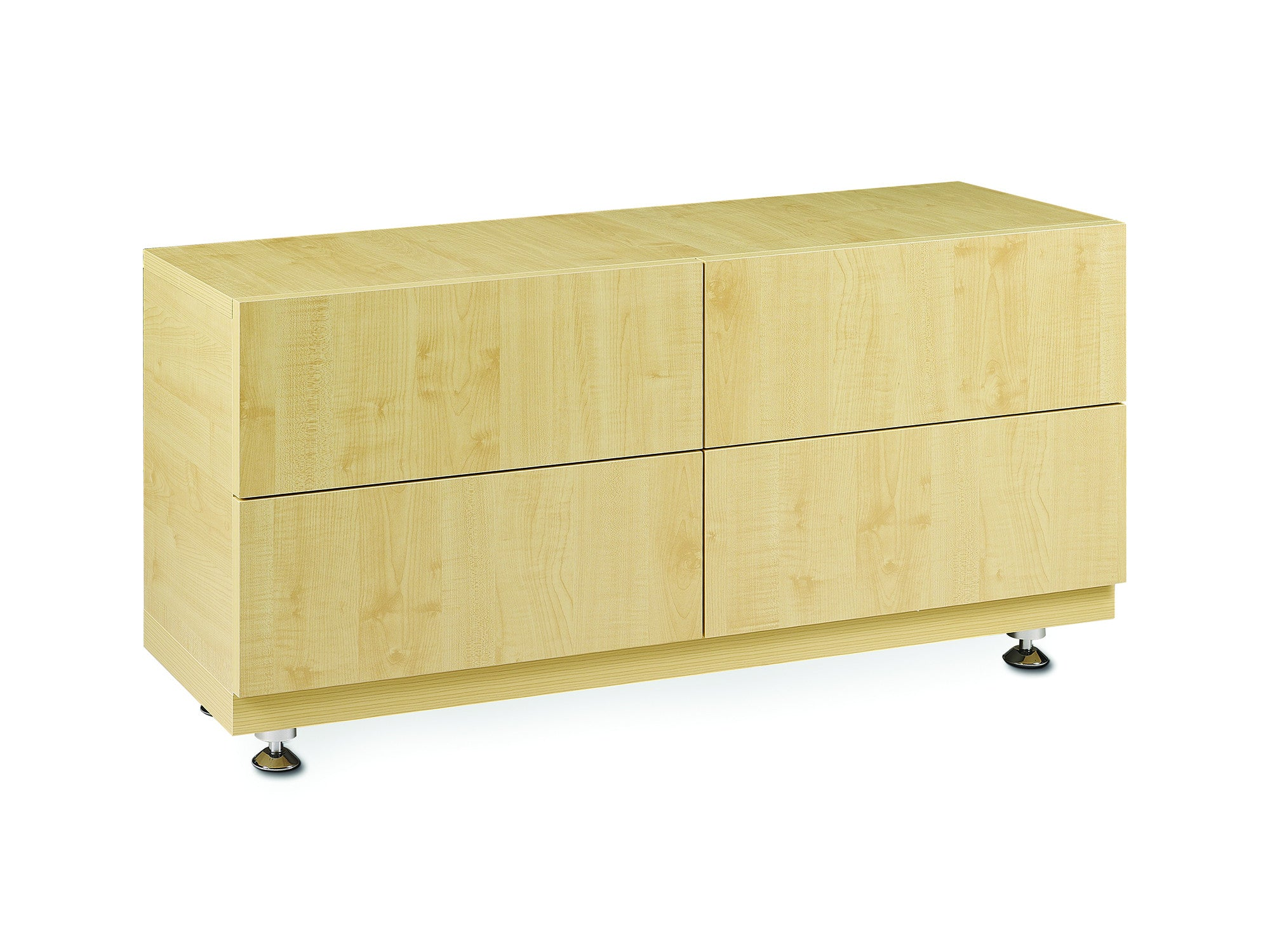 Busan 4 drawers chest natural wood meubles newell for Meuble brossard