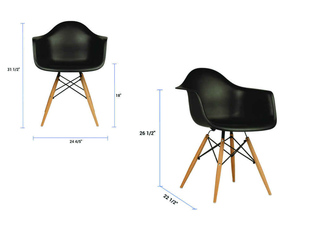 Newell furniture l eames style daw chair black meubles for Eames meubles