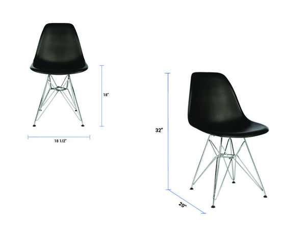 Newell Furniture Eames DSR Replica Meubles Newell  : NewellFurniture EAMESDSRBlackDimensionsgrande from products.newellfurniture.com size 600 x 450 jpeg 17kB