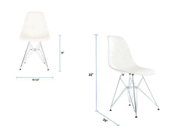 Newell furniture eames dsr replica white meubles for Eames meubles