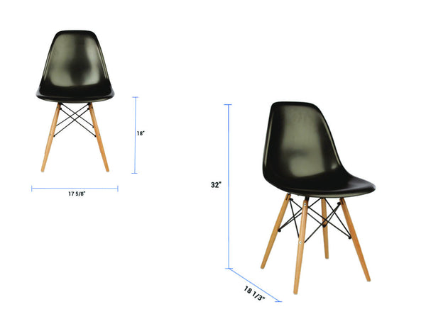 Newell furniture eames style dsw chair green meubles for Eames meubles