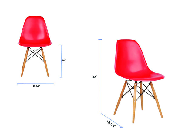 newell furniture eames style dsw chair red meubles