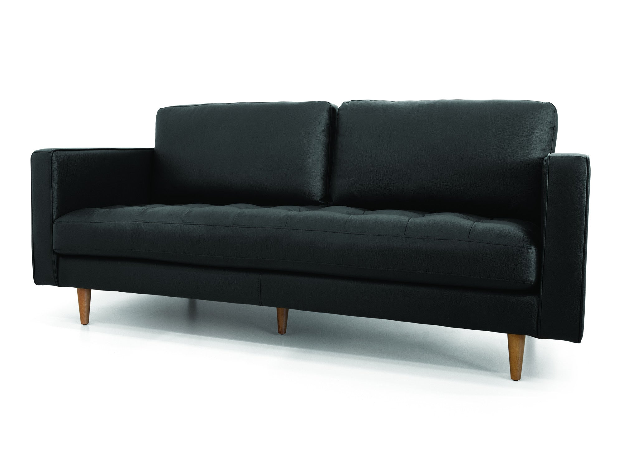 Holbox sofa black leather meubles newell furniture for Meubles newell montreal