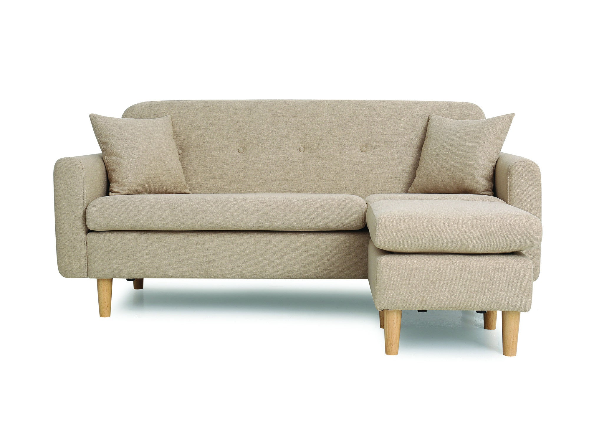 Newell furniture marianne 3 seater sectional beige for Meubles newell montreal