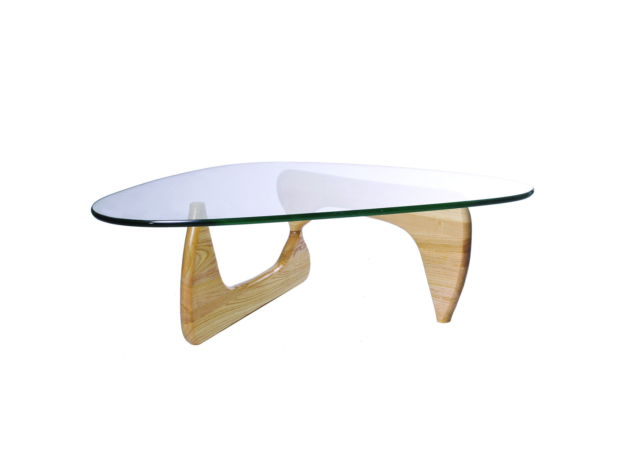 Beautiful Noguchi Style Coffee Table   Wood Color