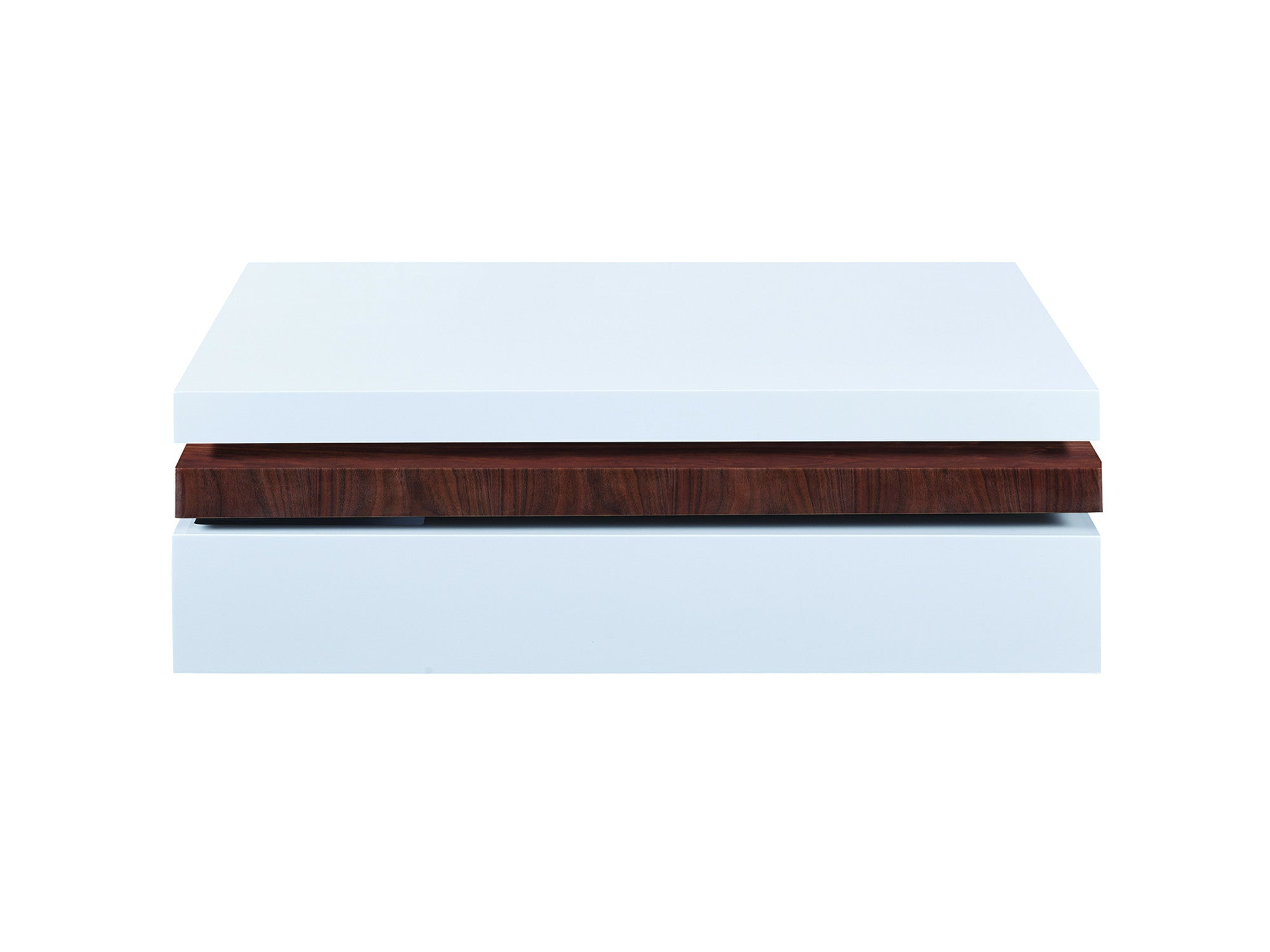 Newell furniture pivot coffee table walnut meubles for Meuble brossard