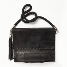 Load image into Gallery viewer, Up-cycled Rubber Envelope Bag with Tassel Key Ring