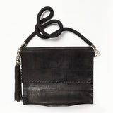 Up-cycled Rubber Envelope Bag with Tassel Key Ring