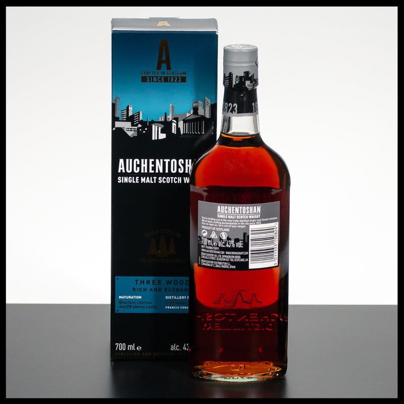 Auchentoshan Three Wood 0,7L - 43% - Trinklusiv