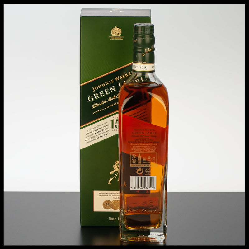 Johnnie Walker Green Label 0,7L - 43% - Trinklusiv