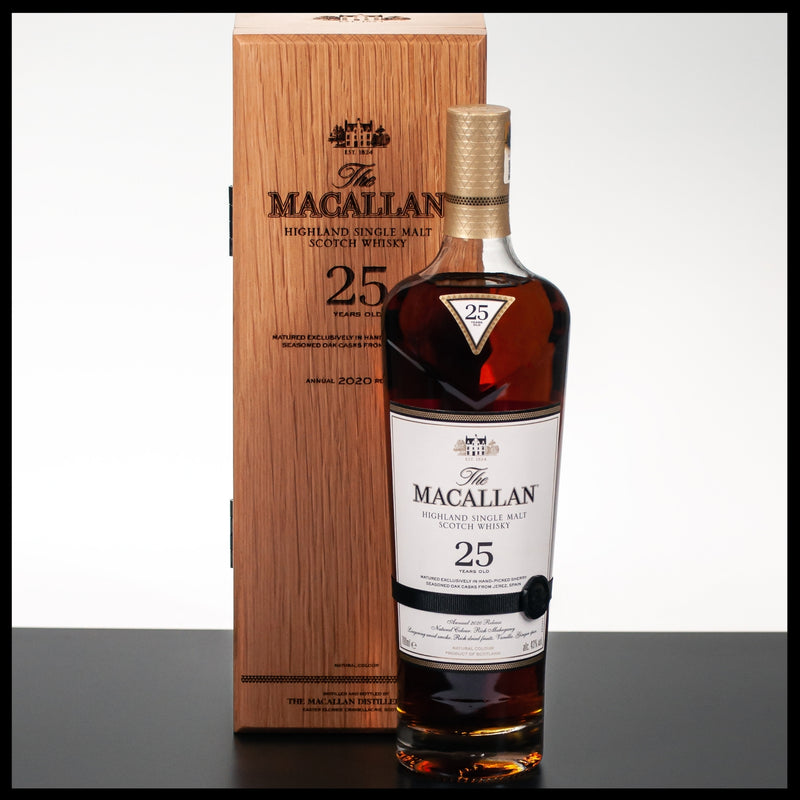 Macallan 25 YO Sherry Oak Cask 2020 0,7L - 43% Vol. - Trinklusiv