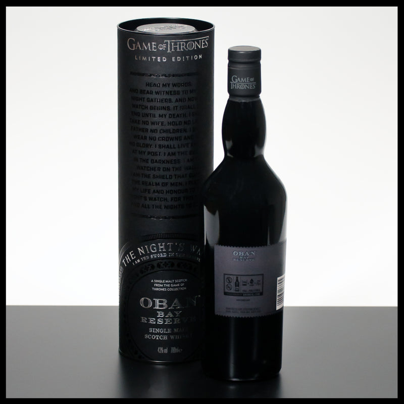 Oban Bay Reserve Game of Thrones The Night's Watch 0,7L - 43% - Trinklusiv