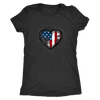 I Heart Stars and Stripes Women's Tri-Blend T-Shirt