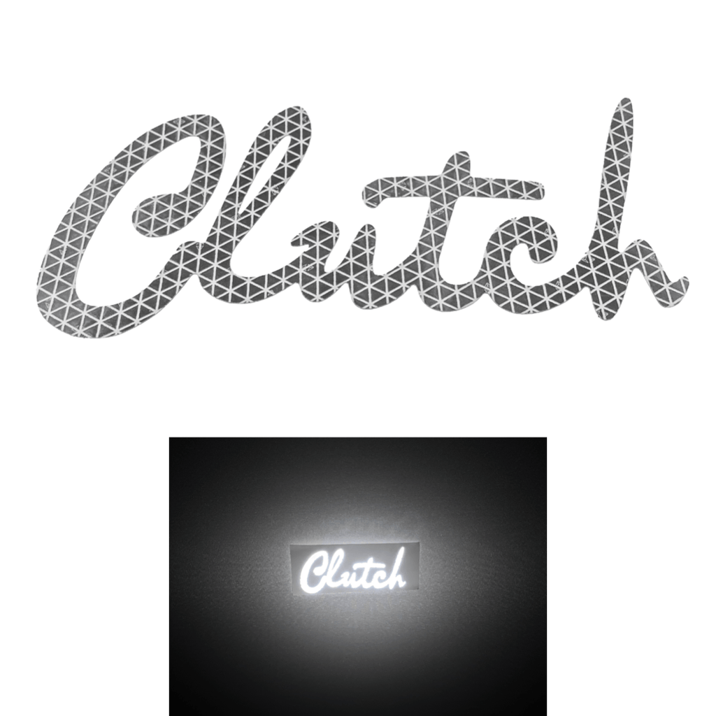 Reflective Clutch Logo Sticker (WHITE/CHROME)