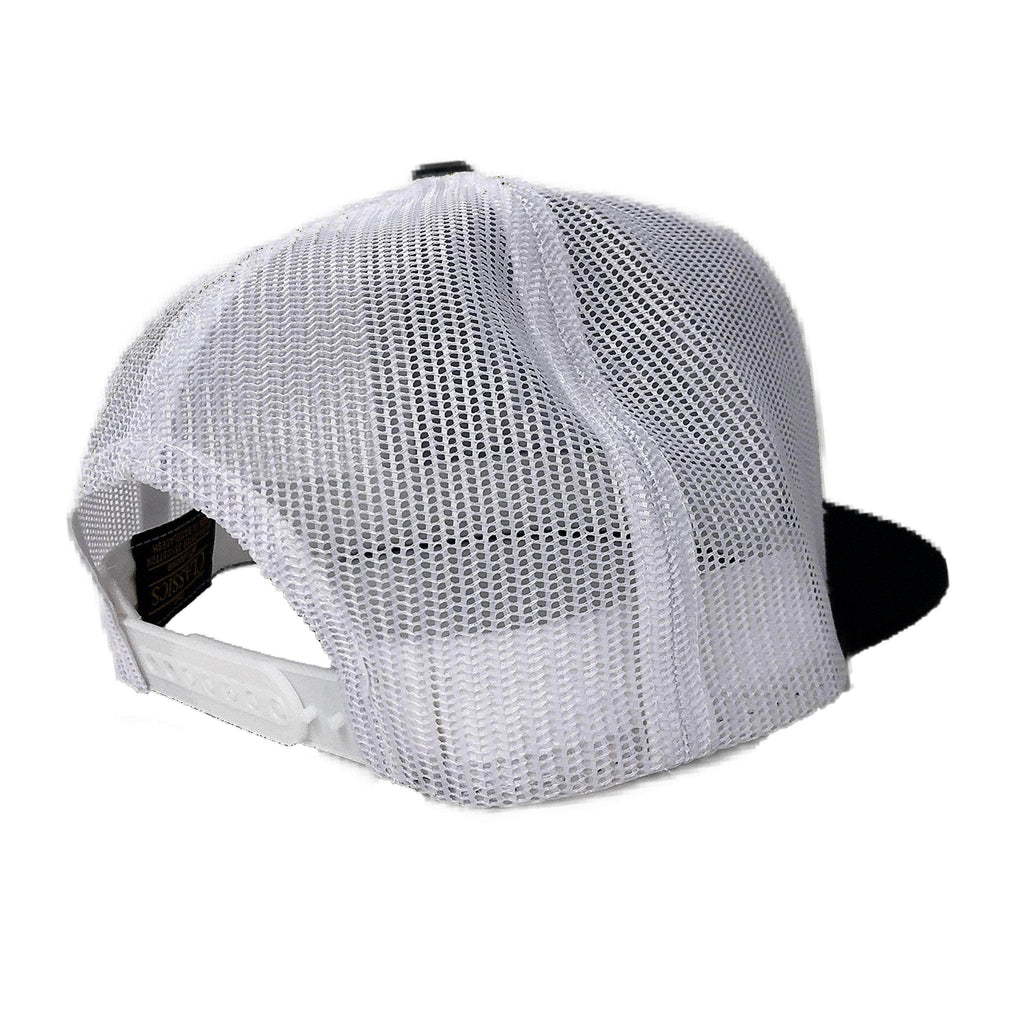 Clutch Snapback Black/White (Mesh Back)