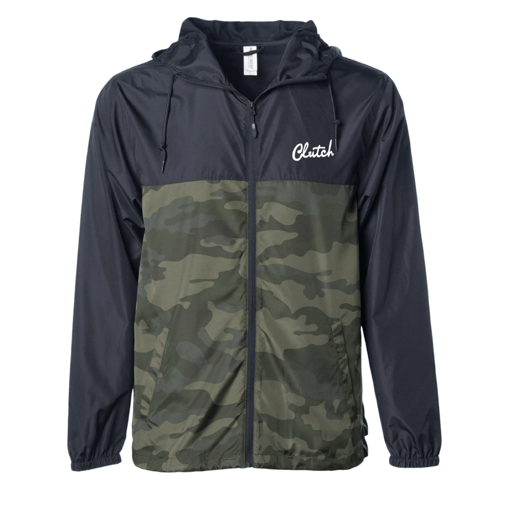 Clutch Camo/Black Lightweight Windbreaker Jacket