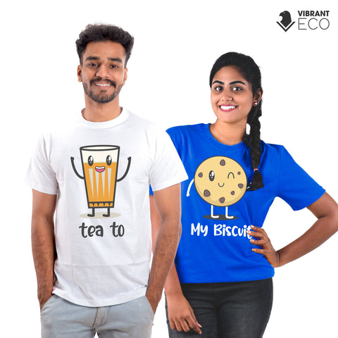 Tea to my Biscuit Couple Quali-Tee | Vibrant Eco