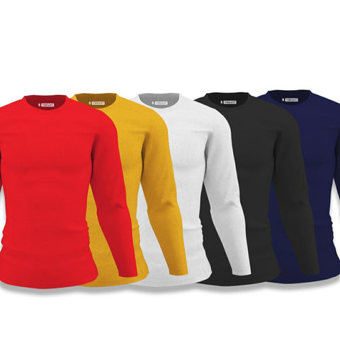 Vibrant Solid Full Sleeve Combo | Pack of 5