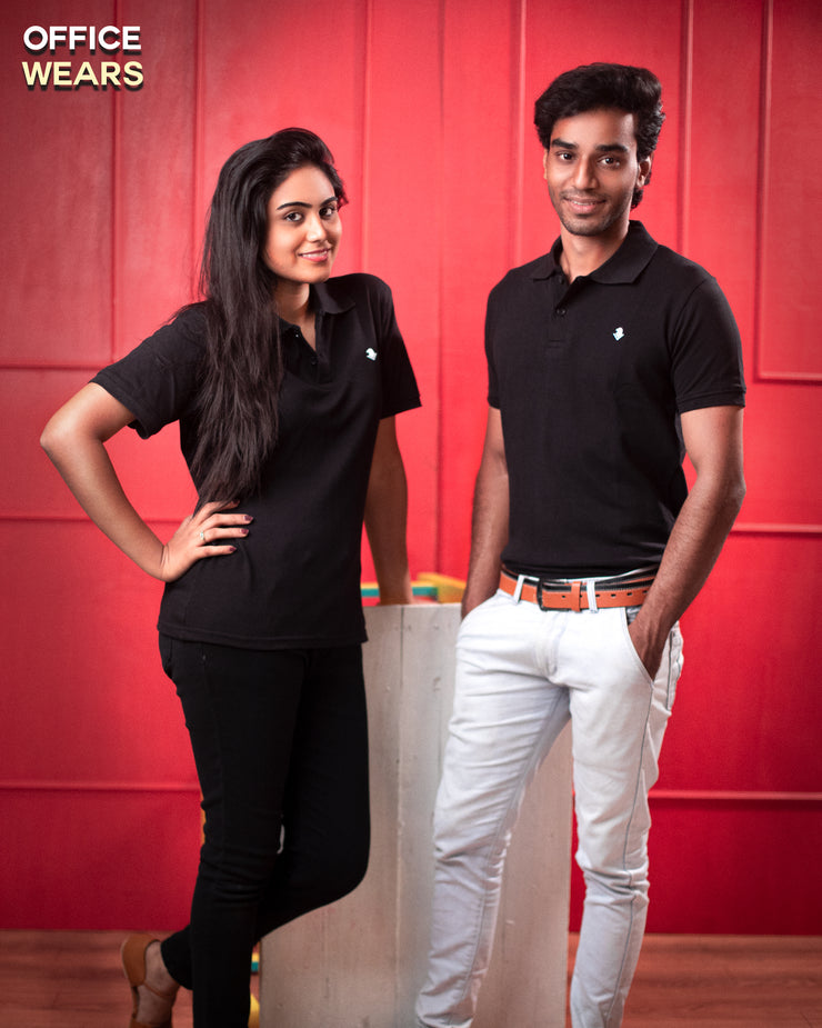 Black Polo Office Wear Quali-Tee