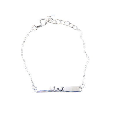 Sterling Silver Bar Bracelet | joy
