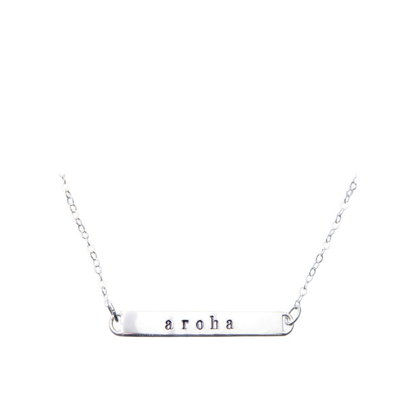 Sterling Silver Bar Necklace | aroha