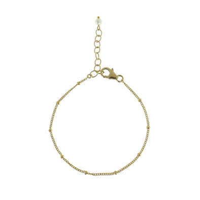Gold ball chain bracelet