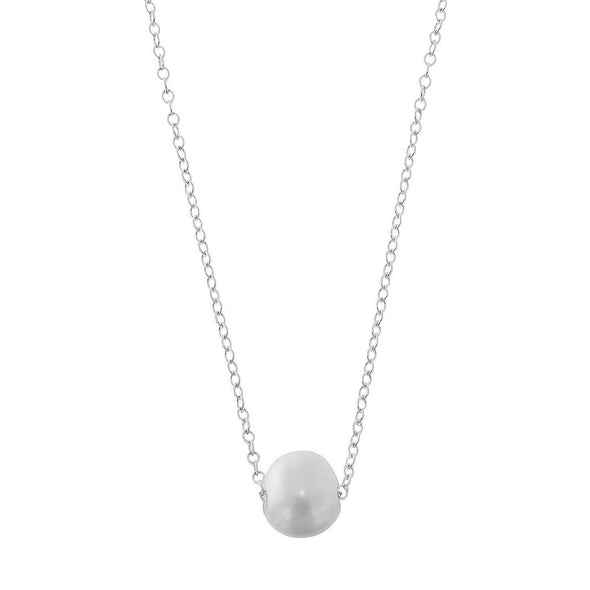 Infinity Freshwater Pearl Necklace | White