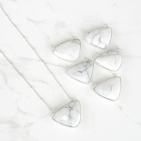 Harmony Gemstone Necklace | White Howlite