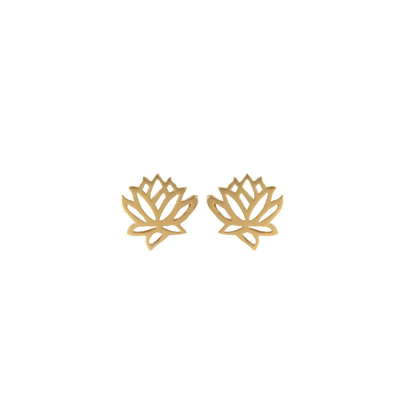 Lotus Flower Studs | Gold