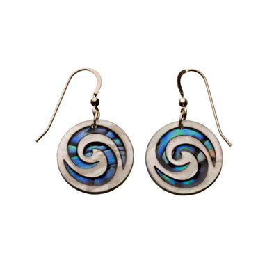 Vibrant Paua Earrings | Koru