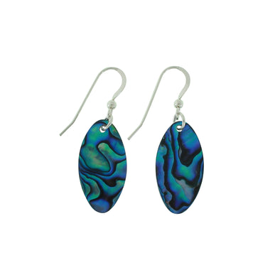 Vibrant Paua Earrings | Oval