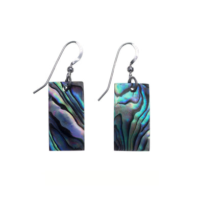 Vibrant Paua Earrings | Rectangle