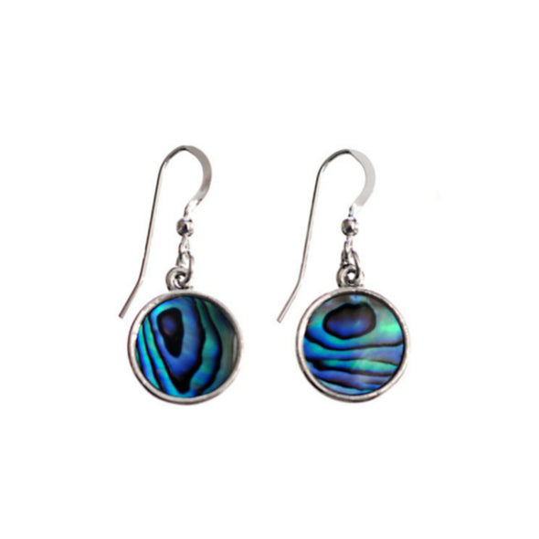 Vibrant Paua Round Small Earrings
