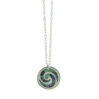 Vibrant Paua Necklace | Koru