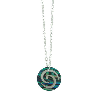 Vibrant Paua Necklace | Open Koru